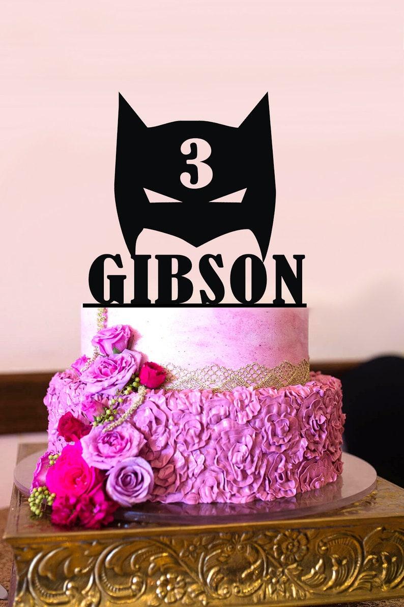 Batman Birthday Cake Topper Personalized