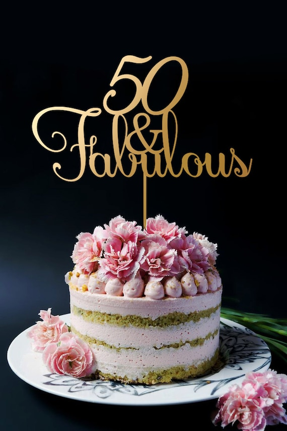 50th Birthday Cake Topper Anniversary Cake Topper 50 And Etsy