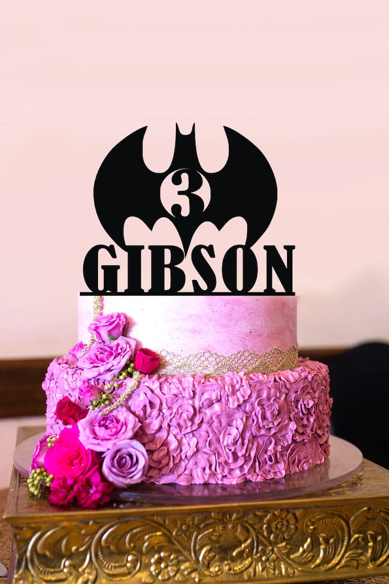 Personalized Birthday Cake Topper Batman