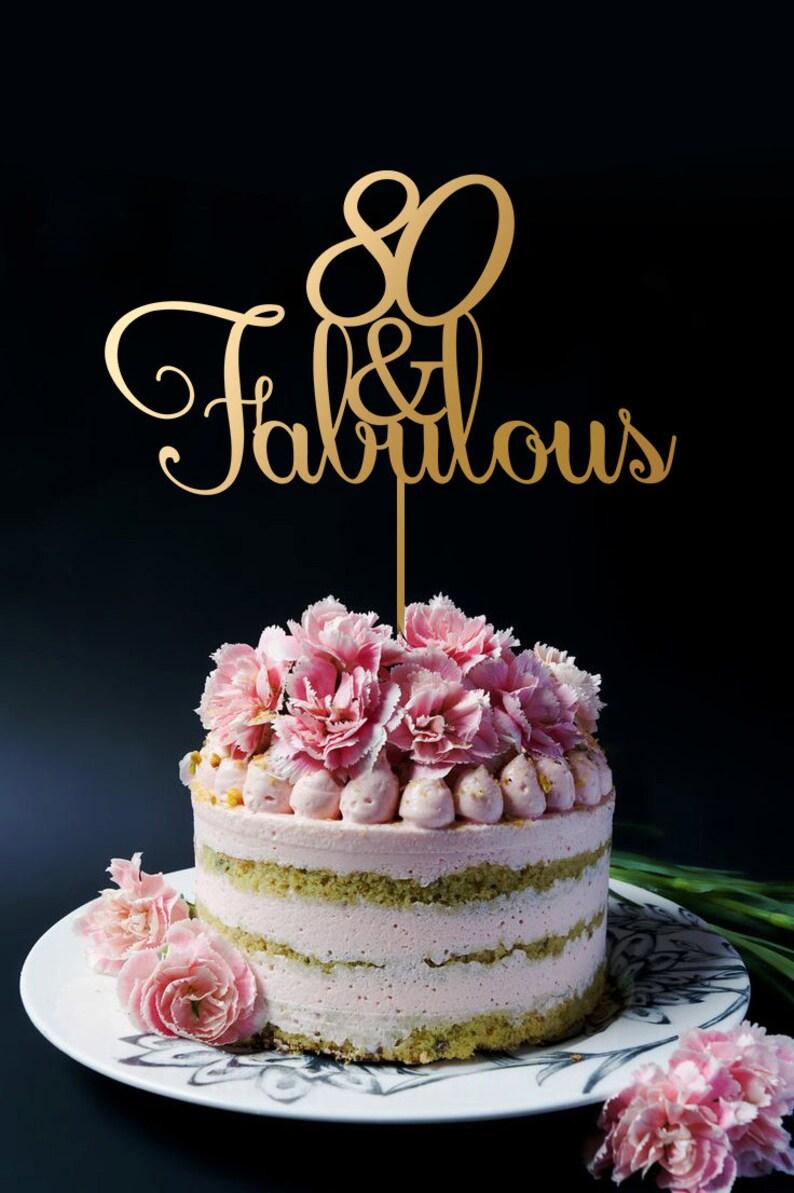 Birthday Cake Topper 80th