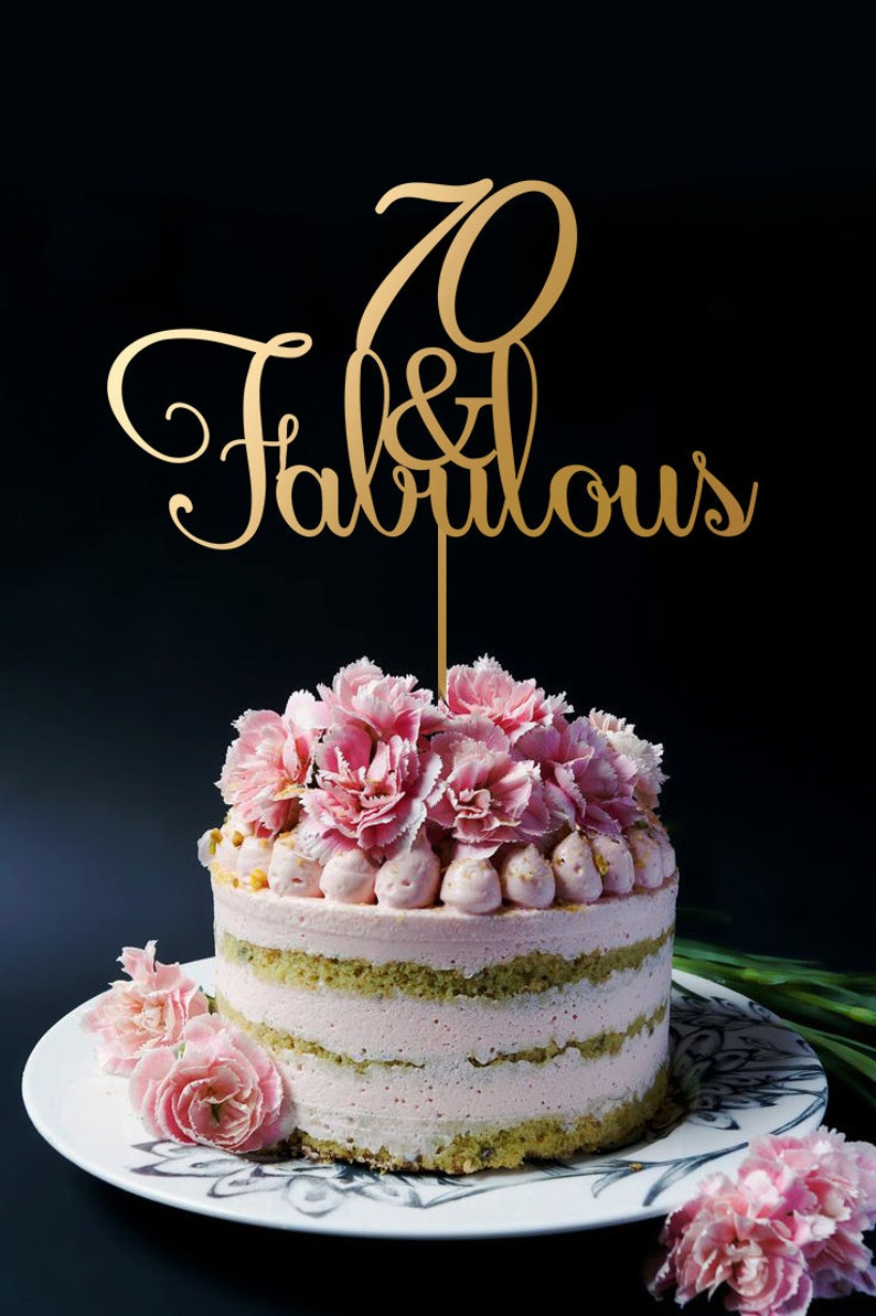 70th Birthday Cake Topper Anniversary 70 And