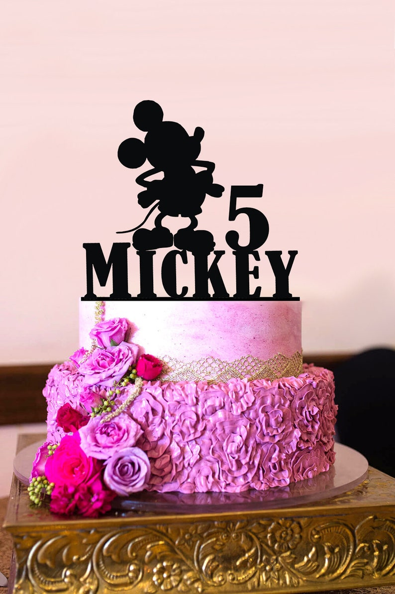 Personalised Birthday Cake Topper Custom Name Number