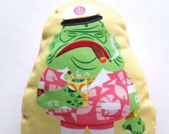 Grandpa Morty GillMan Creature from The Black Lagoon Handmade Plush Pillow Doll! Monster Art!
