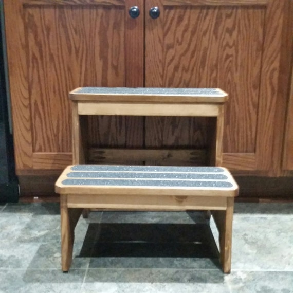 Tremendous Anti Slip Rustic Pet Stairs Step Stool Dailytribune Chair Design For Home Dailytribuneorg