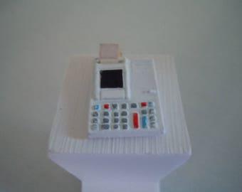 Miniature Calculator ~ Adding Machine ~ Vintage ~ Math ~  Desk ~ Accounting ~ Dollhouse ~ Accessories ~ Fairy Garden ~ Miniature