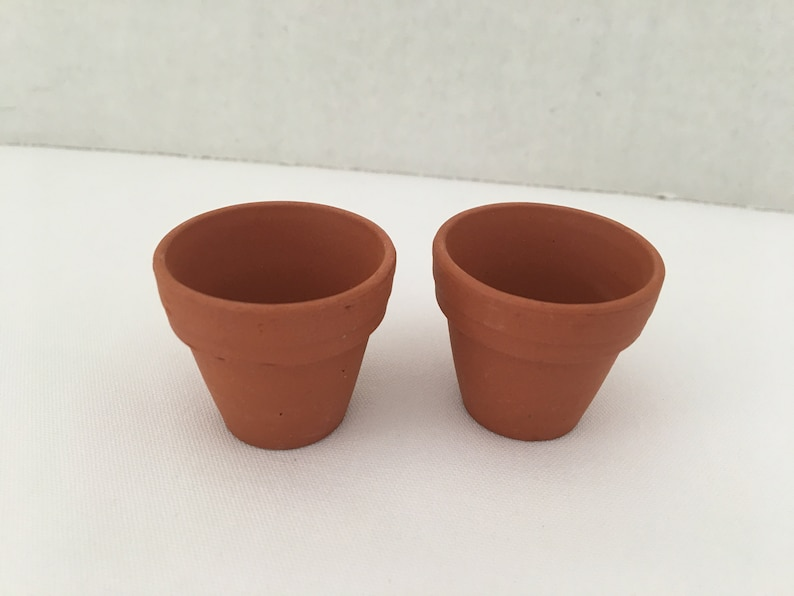 1X Terracotta Flower Pot Planter Dollhouse Miniatures Garden