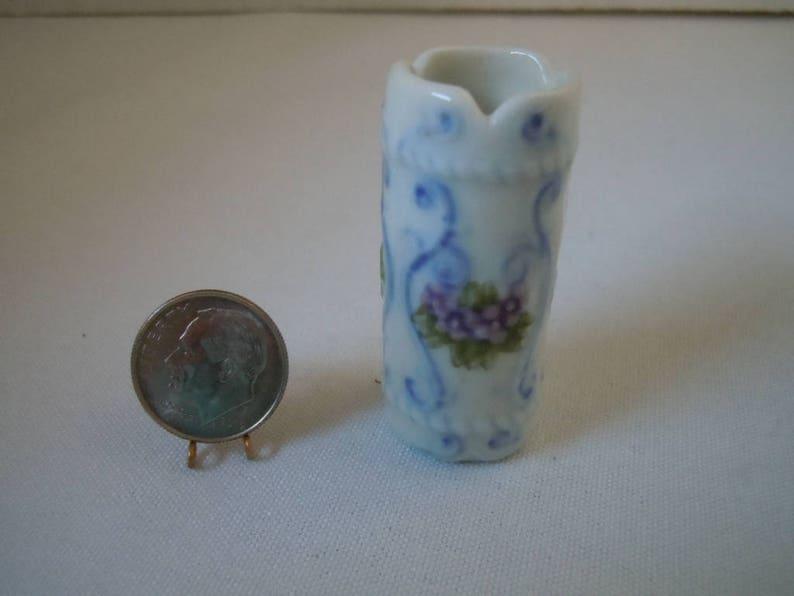 Puppenhaus Viktorianisch Damen Blau Hut & Sonnenschirm Miniatur Shop Puppe Dolls & Bears Other Dollhouse Miniatures