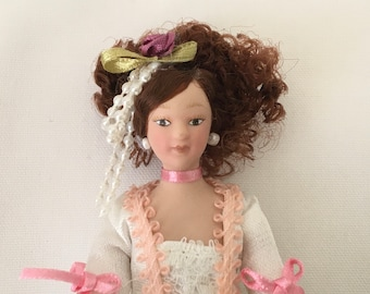 Dollhouse Miniature Doll ~ Victorian Women ~ 1:12th Scale ~ Mother ~ Miniature Scene ~ Fairy garden ~ Diorama ~ Dollhouse ~ Room Box