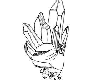 Rock'n'Crystals Coloring Page