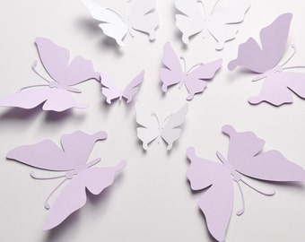 35 Butterfly Wall Decal, 3D Wall Decor, Butterfly Party Decoration, Paper Butterflies, Paper Butterfly Stickers