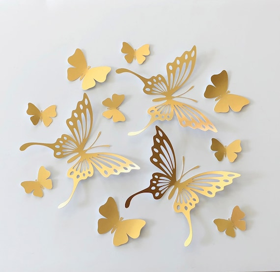 gold drop prints 2 gold watermark prints butterfly pattern 42 x 26 mm