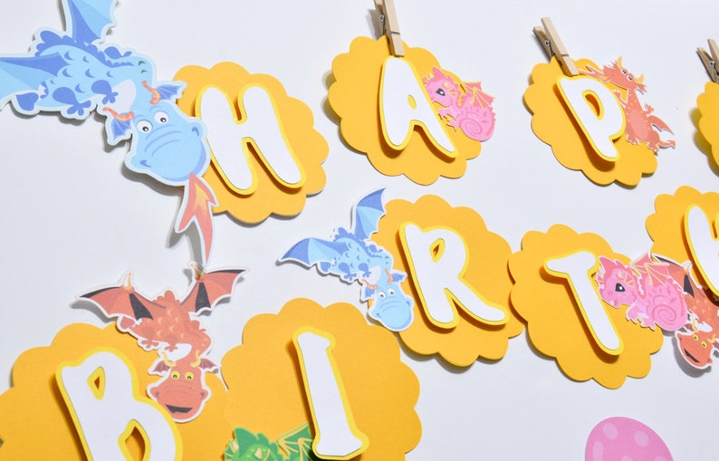 Dragon Banner Dragon Party Decorations Dragon Banner Baby Etsy
