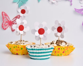 Daisy Cake Toppers - 3D Daisy Baby Shower - Baby Shower Cupcakes - Daisy Cupcake - Daisy Cake Decor - 3D Daisy Cake Toppers