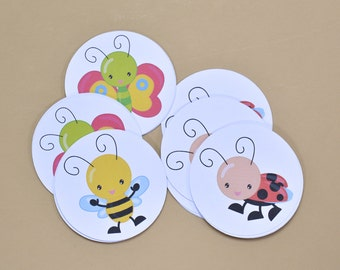 24 Baby Shower Tags - Butterfly Baby Shower Decoration - Butterfly Birthday Tags - Baby Shower Decor