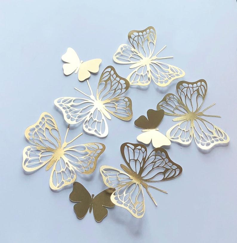 15 gold Schmetterling Aufkleber Schmetterlinge Wand Dekor | Etsy