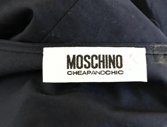 Moschino Cheap and Chic Navy Blue Cotton Dress, M… - image 7