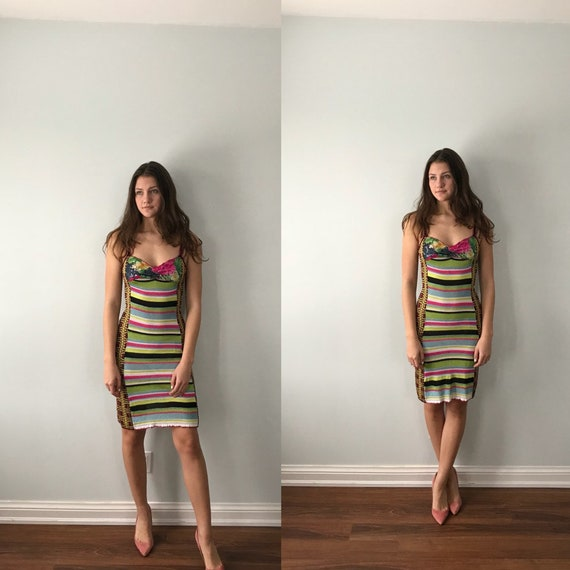 Bazar Christian Lacroix Knit Dress, Striped Knit D