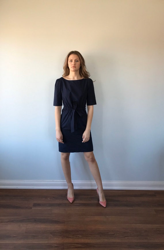 Moschino Cheap and Chic Navy Blue Cotton Dress, M… - image 2