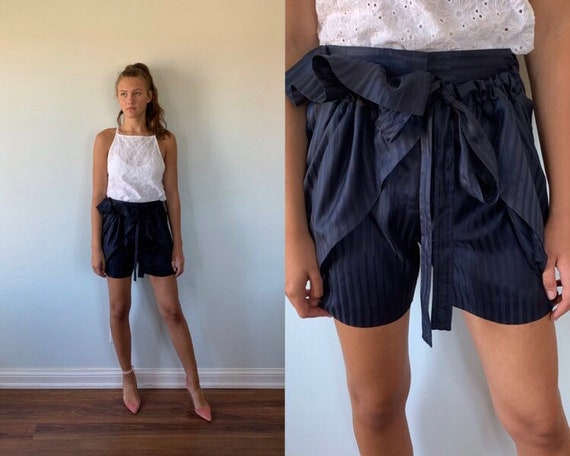 Vintage Blue Shorts, Stella Mccartney, Vintage Sho