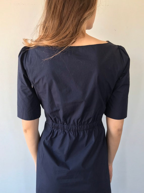 Moschino Cheap and Chic Navy Blue Cotton Dress, M… - image 6