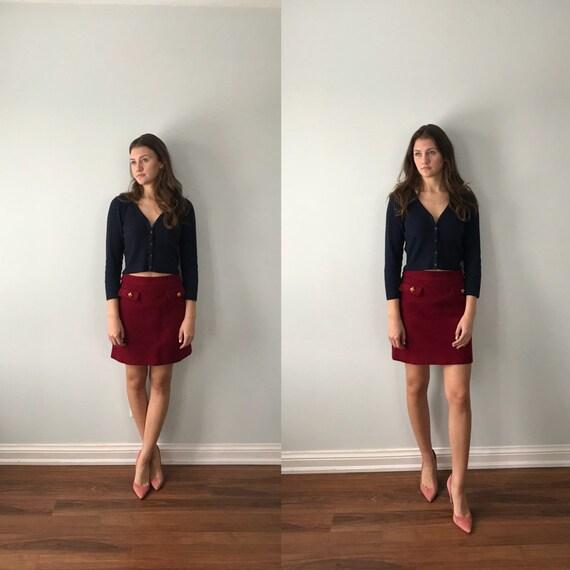 Vintage Dolce & Gabbana Red Short Skirt, Vintage S