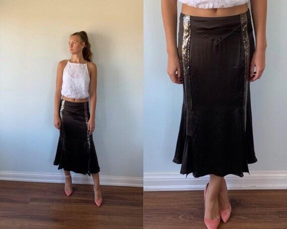 Vintage Black Skirt, Versace Jeans Couture, Vintag