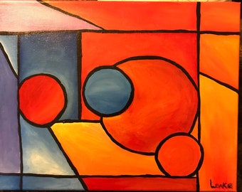 Chris Riggs Abstract Cubism Surrealism Love Art Painting Etsy