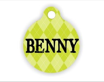 Unique Name Pet Tag Dog Pet Lavender Argyle Diamond Pattern Keychain Custom Collar Personalized Lunch Box ID Pet Tag Back to School.