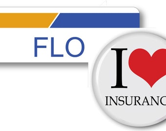 1 FLO From Progressive Insurance Halloween Costume Name Badge Tag Magnet  Fastener U0026 Button Ships ASAP FREE