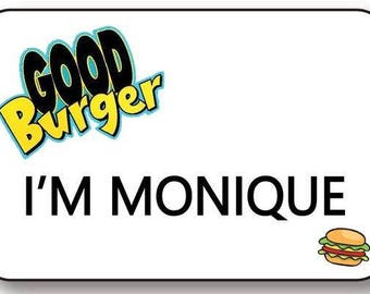 im monique good burger magnet fastener name badge halloween costume prop