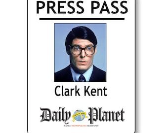 graphic regarding Lois Lane Press Pass Printable identified as LOIS LANE SUPERMAN Each day Environment Push P Pin Fastener Status