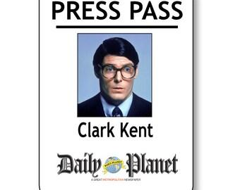 Clark Kent Superman Daily Planet Press Pass Magnetic