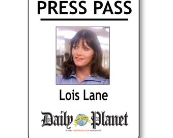 graphic relating to Clark Kent Press Pass Printable identified as CLARK KENT SUPERMAN Day-to-day Environment Drive P Magnetic