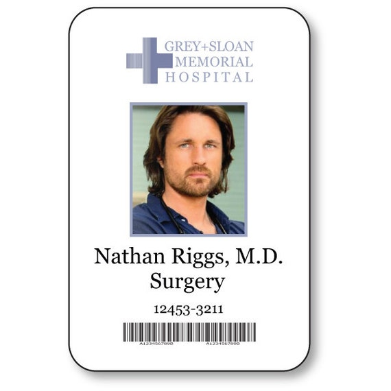 Doctor on Greys Anatomy T V Show Magnetic Fastener Name Badge Halloween Costume Prop MEREDITH GREY
