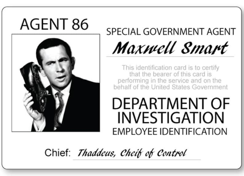 GET SMART MAXWELL Smart Halloween Costume Or Cosplay Name Badge Tag Magnet  Fastener Ships Free