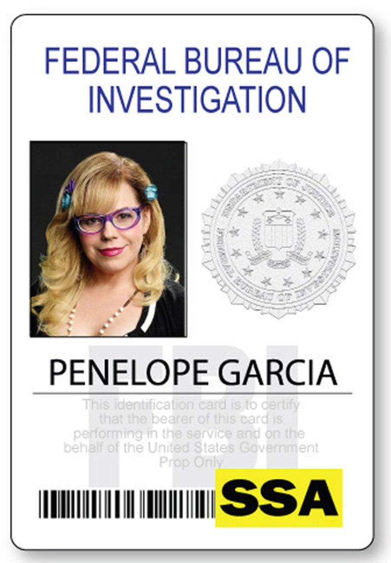 CRIMINAL MINDS PENELOPE Garcia Halloween Costume or Cosplay Name Badge Tag Pin Fastener Ships Free