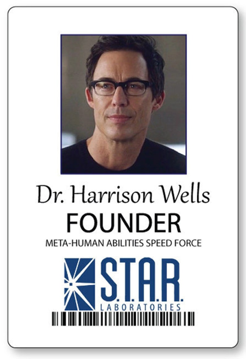 Dr Flash Prop Wells From Name The Harrison Costume Cosplay Pin Fastener Badge Halloween LSqjMUzVpG