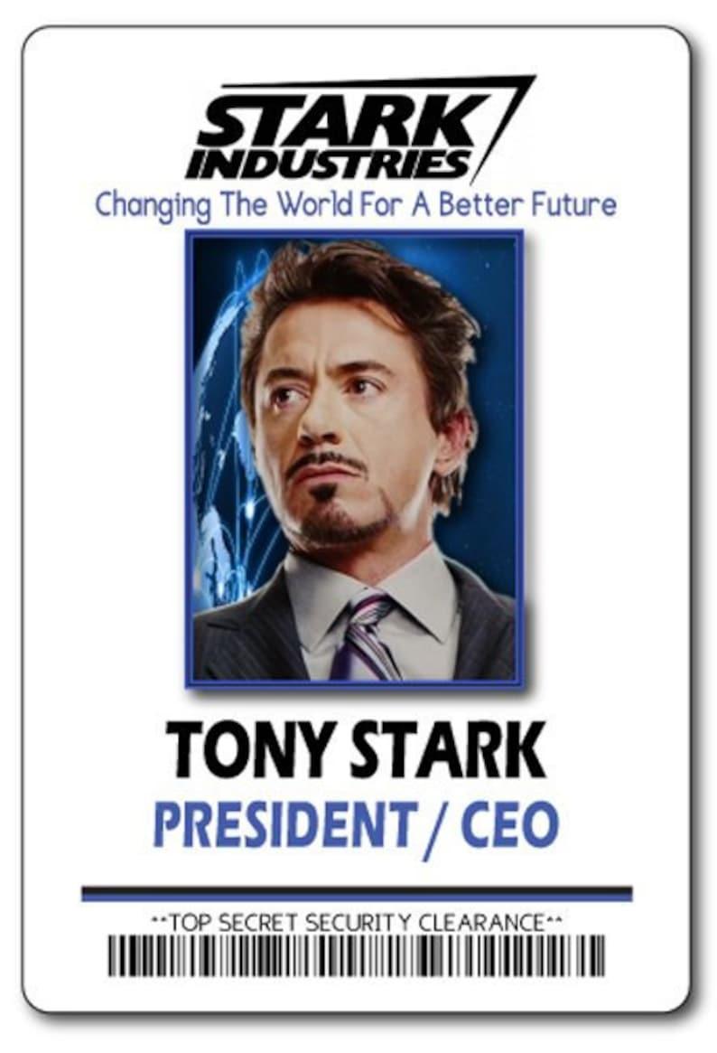 Tony Stark Halloween Costume.Tony Stark Ceo At Stark Industries Iron Man Safety Magnet Fastener Name Badge Halloween Costume Prop