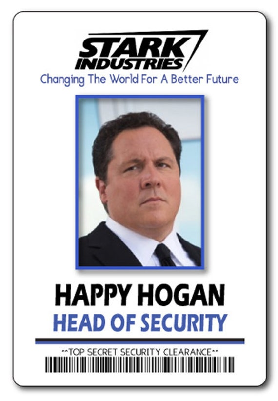 HAPPY HOGAN Head Of Security At Stark Industries IRON Man Safety Magnet Fastener Name Badge Halloween Costume Prop