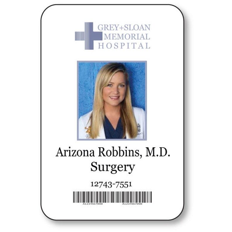 Costume Fermeture Arizona Voir La Nom T Magnétique Badge Prop V Gris Sur Anatomie RobbinsMédecin Halloween QrdCoBexW