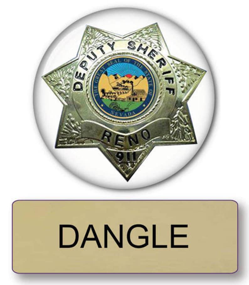 Reno 911 Halloween Costume.Reno 911 Officer Dangle Pin Fastener Name Badge Lieutenant Button Halloween Costume Prop