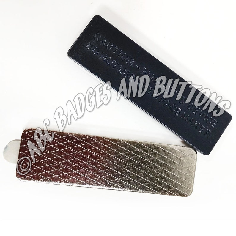 Qty 1 NAME BADGE Tag MAGNET double stick tape with Easy Tab 2 Piece Set Superior Quality Ships Free