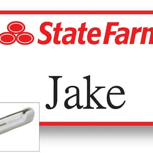 1 Jake From State Farm Halloween Costume Name Badge Tag With A Etsy