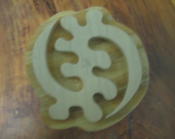 Gye-Nyame, Adinkra Hand Crafted Wooden Stamp