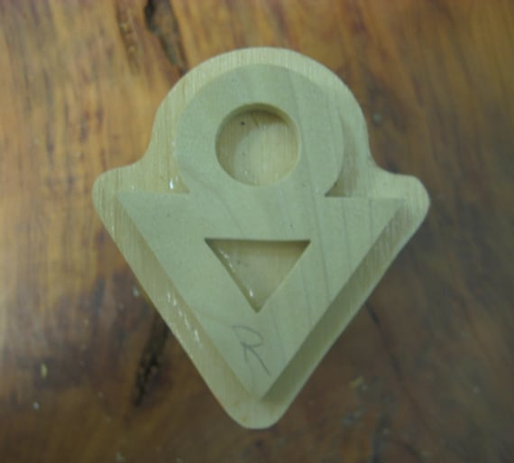Sepo, Adinkra Hand Crafted Wooden Stamp
