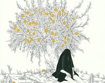 """PRINT- """"Lemon Tree"""" 10 x 13"""