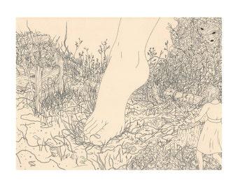 """Print- """"Giants"""" Art Print 11x14in"""