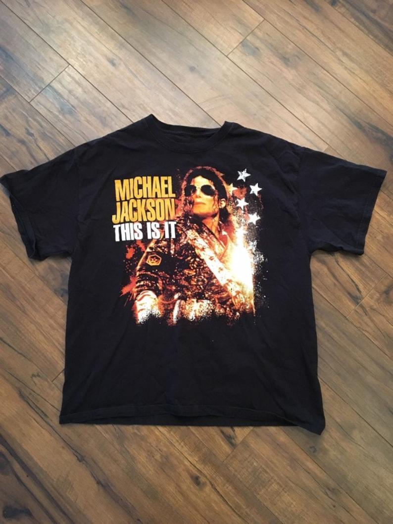 e80d72ae478 Vintage Michael Jackson T-shirt XL | Etsy