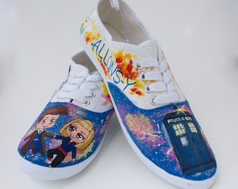 Doctor Who, Custom Hand Painted Shoes