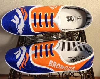 7abb008cabf7 Denver Broncos shoes Hand Painted Bling Bling Not an official NFL product